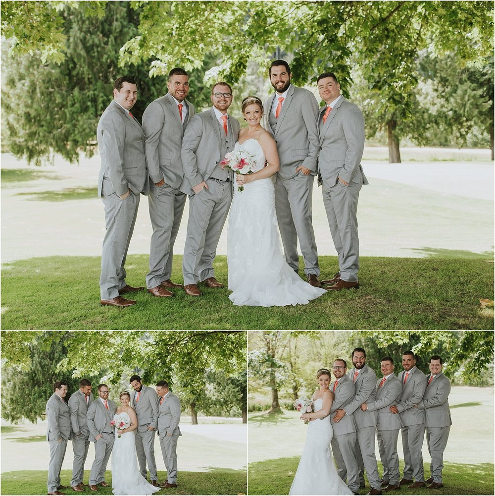 bride and groomsmen group photos