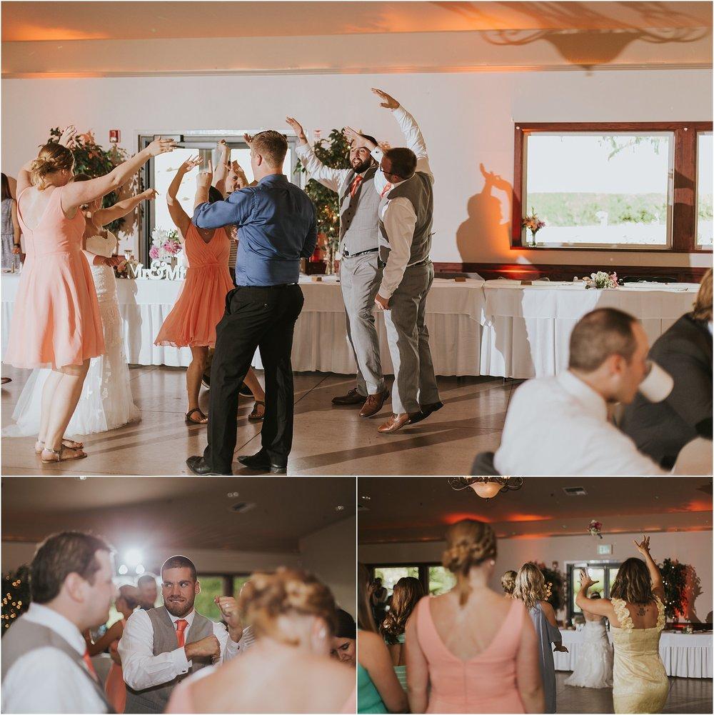 bridal party dancing