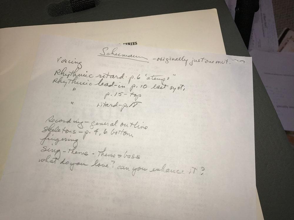 Doris's Notes on the Schumann Concerto