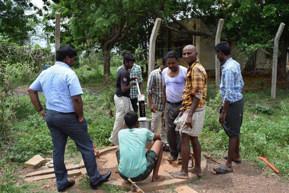 Refurbished well in the village of Konidela