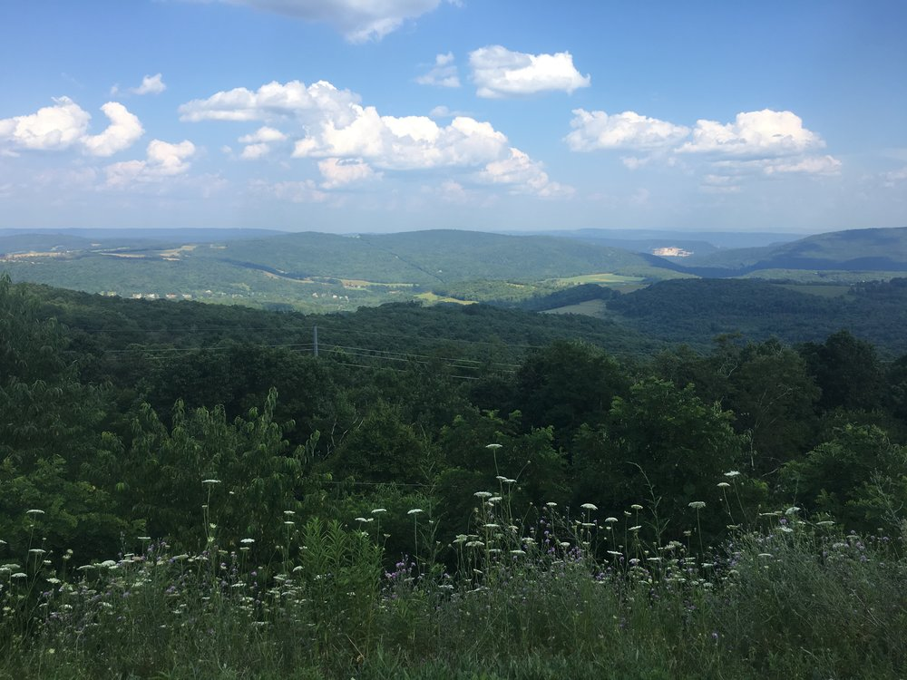 View on the climb from Cumberland, Maryland