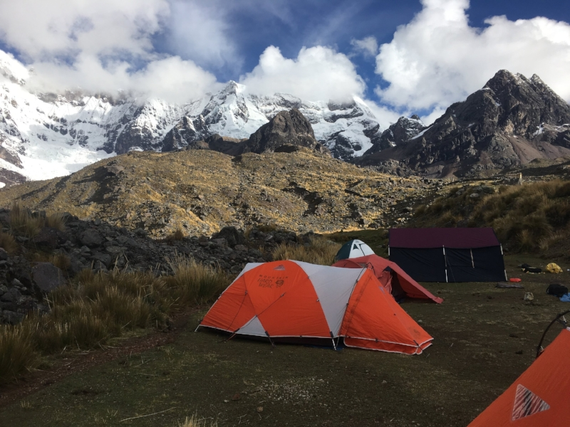 Campsite for day one - not a bad view