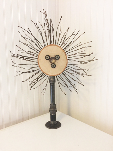 Rustic Monstrance #2 - Pipe, hardware, wood, and sticks