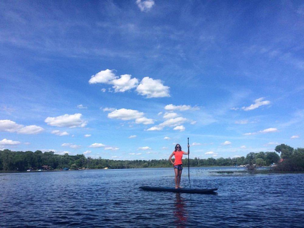 Pinckney paddle boarding