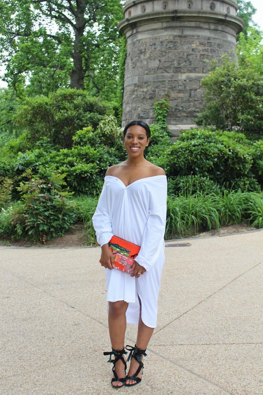 Head to toe ZARA lol. Dress| Shoes | Clutch