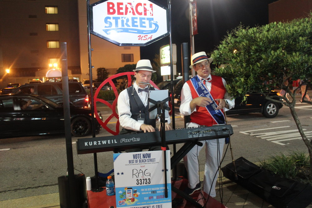 A piano/vocal duet with Alfred Garr, Mayor of Beachstreet USA, August 2016