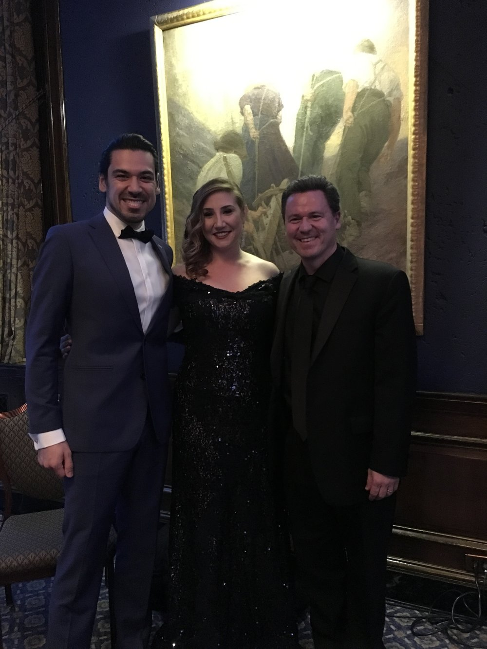 At the Luminarts Gala at the Union League Club in Chicago, IL - two of my favorite operatic soloists ever!