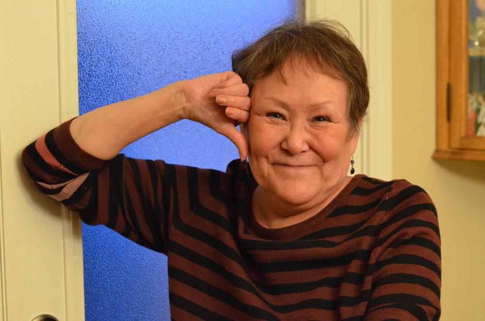 Busch in her home in Anchorage.