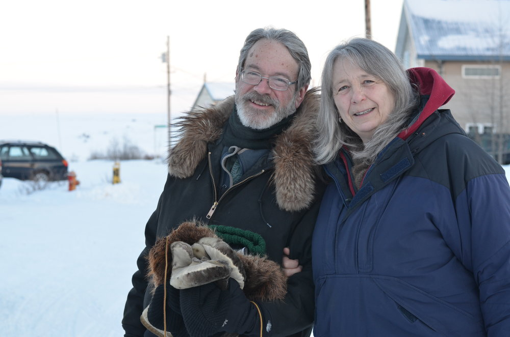 Pardy with his wife Sue Steinacher near their home in Nome.