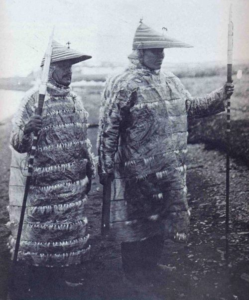 Unangan hunters in gut-skin jackets. Aleutian Islands, Alaska.  From http://aboutnativeamericans.blogspot.com