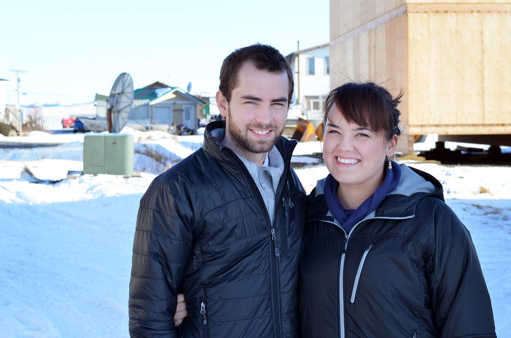 Simonsson with husband Thomas, who works in music ministry for the Unalakleet Covenant Church.