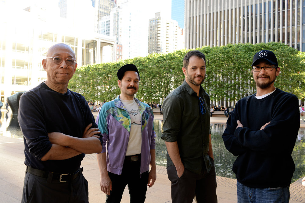 Ping Chong, Justin Perkins, Ryan Conarro, and Gary Upay'aq Beaver. Lincoln Center, NYC. 2017.