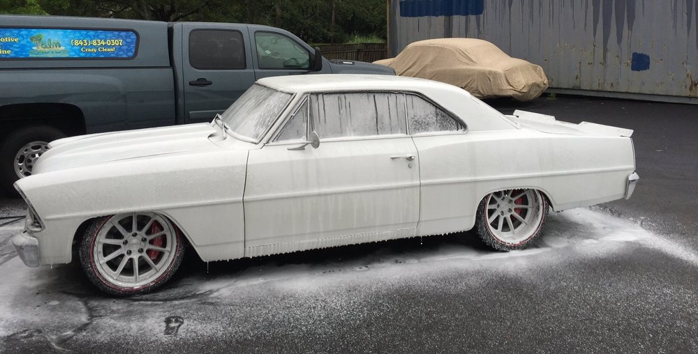 1967 Nova Soaped Up For a Wash