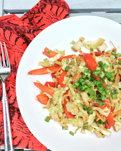 Chicken Stir Fry ~ (Substitute coconut aminos for soy sauce, or Tamari for gluten free) recipe  here .