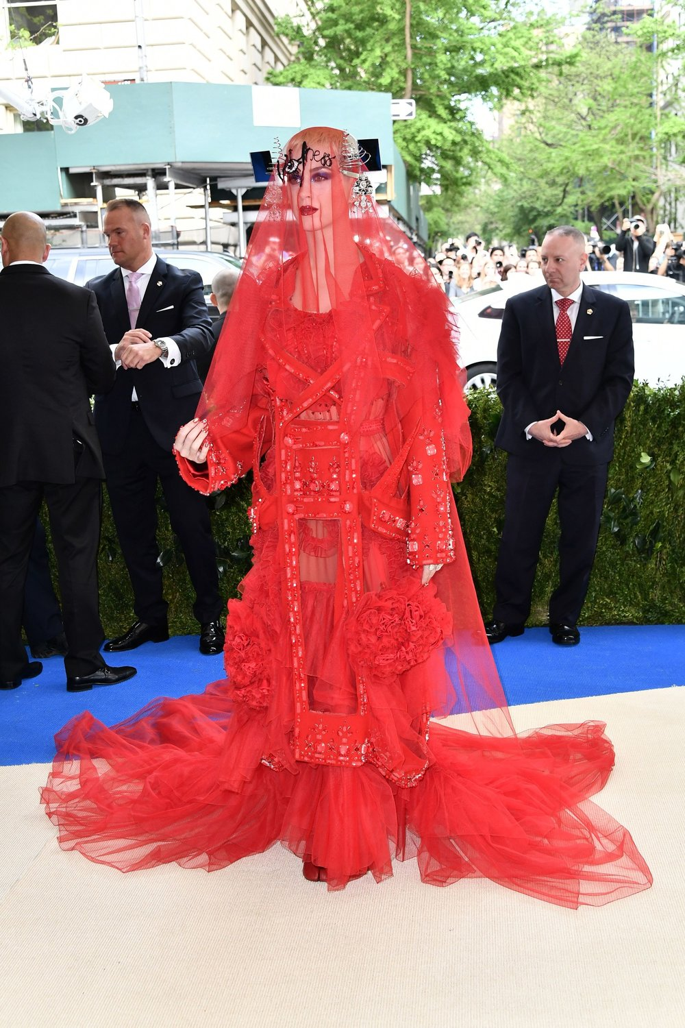 Katy Perry in Maison Margiela (This is very different)