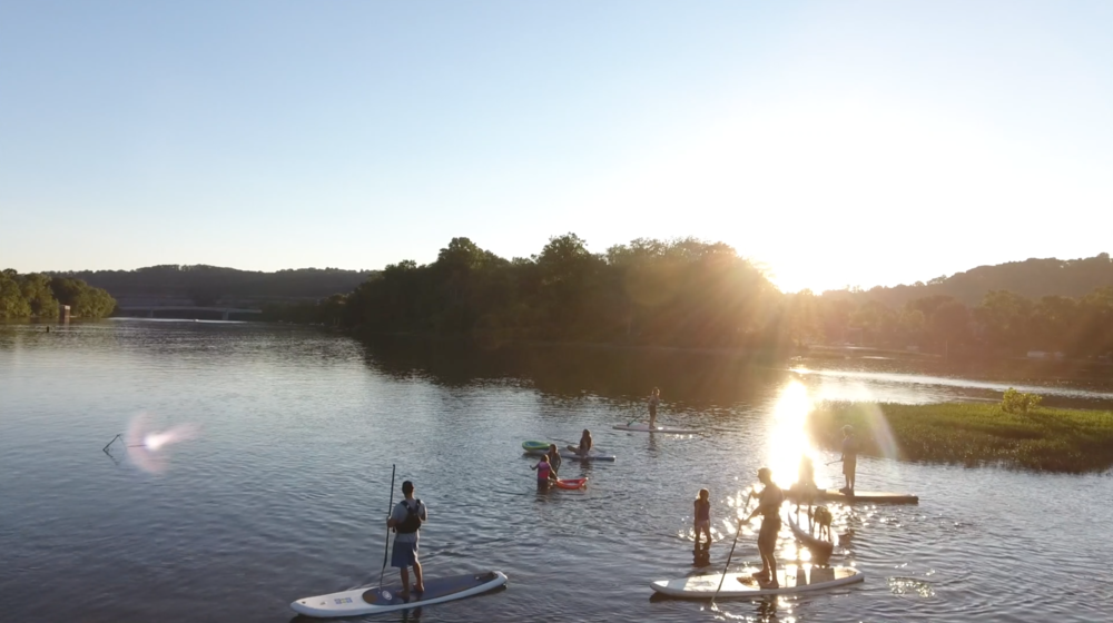SUP Party at Sunset; Allegheny Islands State Park. Photo Credit: Matt Dayak