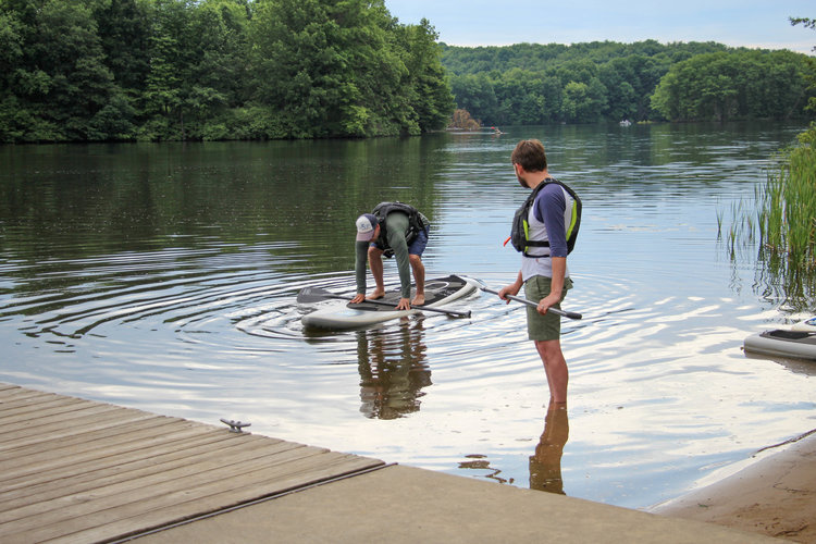 Getting a lesson at Moraine State Park