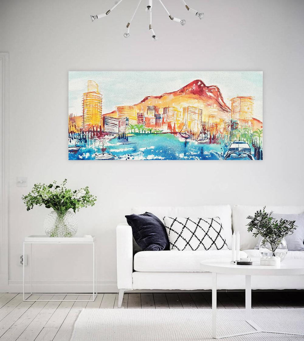 Townsville Artwork in display home.jpg