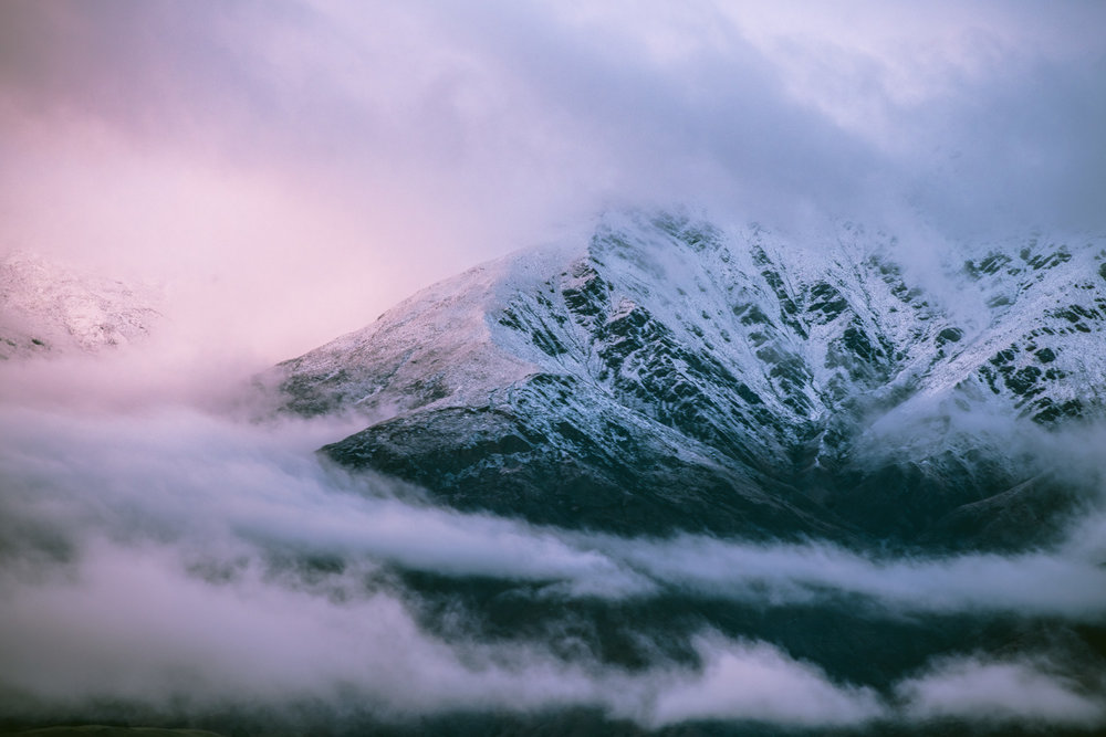 Early morning cloud over The Remarkables
