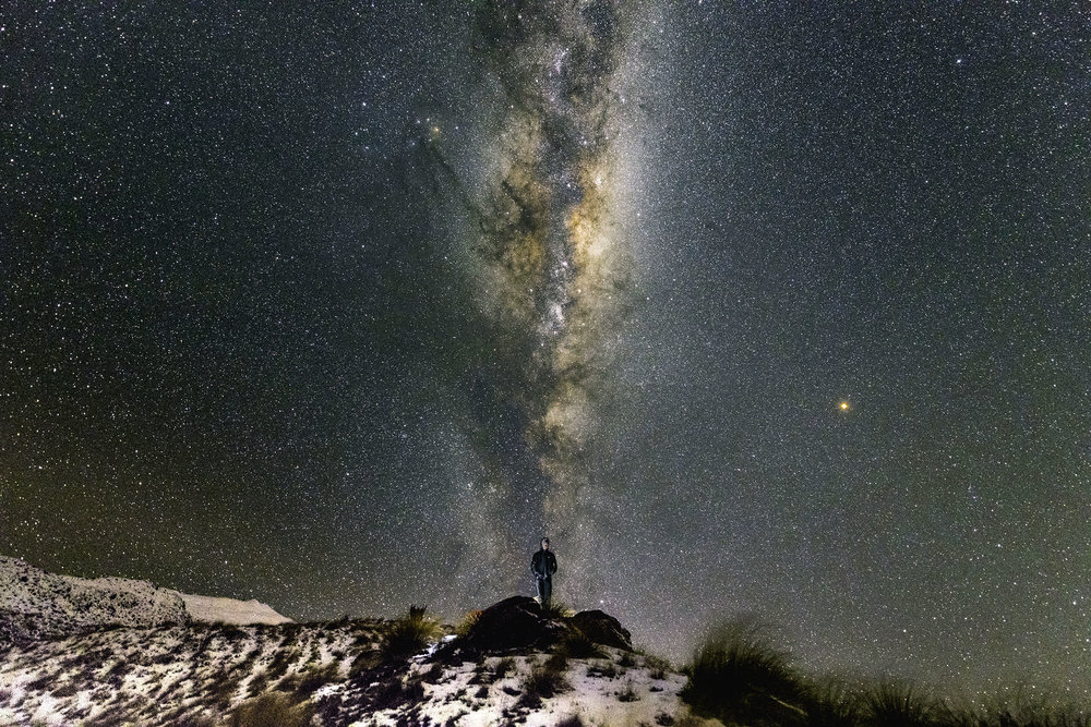 This could be you, standing under the galactic core