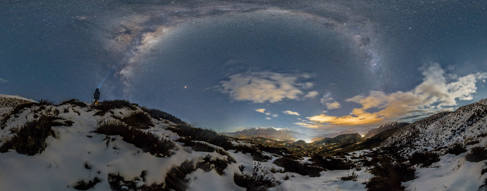 We love taking 360 degree panoramas of our night sky, especially with you in them