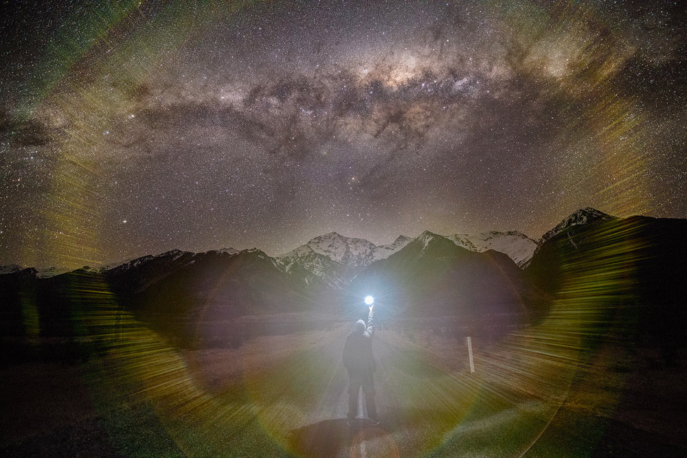 Looking to the stars in the company of Aoraki