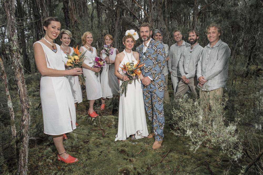 Lani & Hugh bridal party
