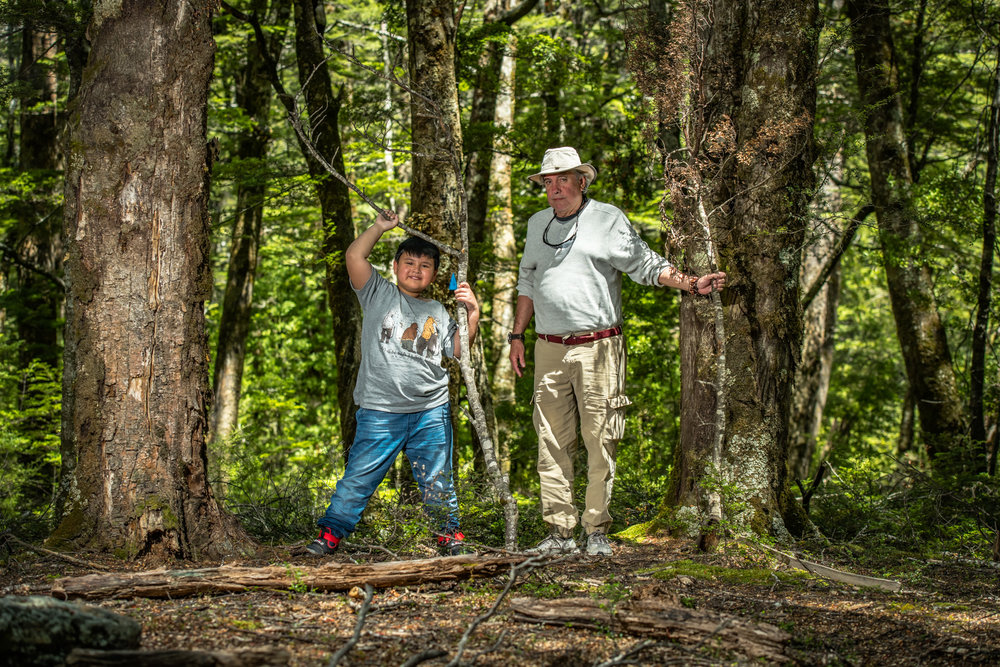 Grandfather and Grandson share special moments on our bespoke 4WD photography tours