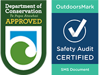 Department of Conservation Approved Concession Holder - OutdoorsMark - Safety Audit Approved