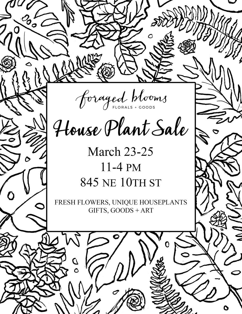 houseplant sale