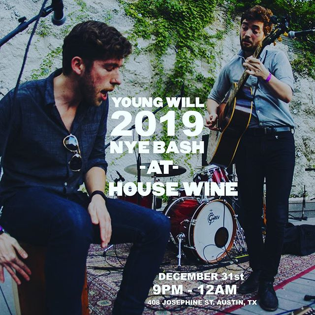 This is happening so freaking hard. Bring in #2019 with @andrewbilotti and I at @housewineaustin