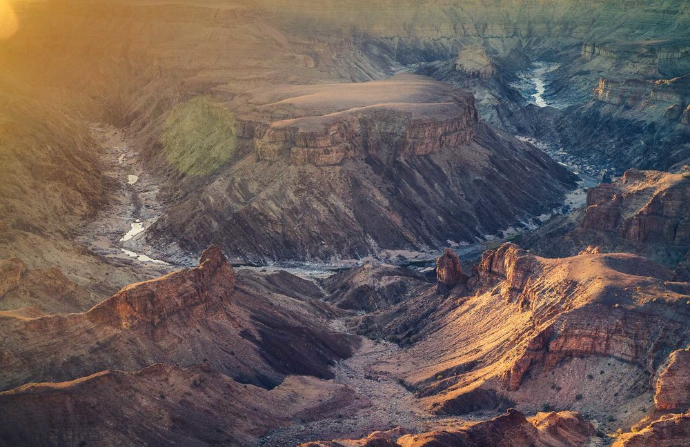The Fish River Canyon from the Hobas viewpoint.