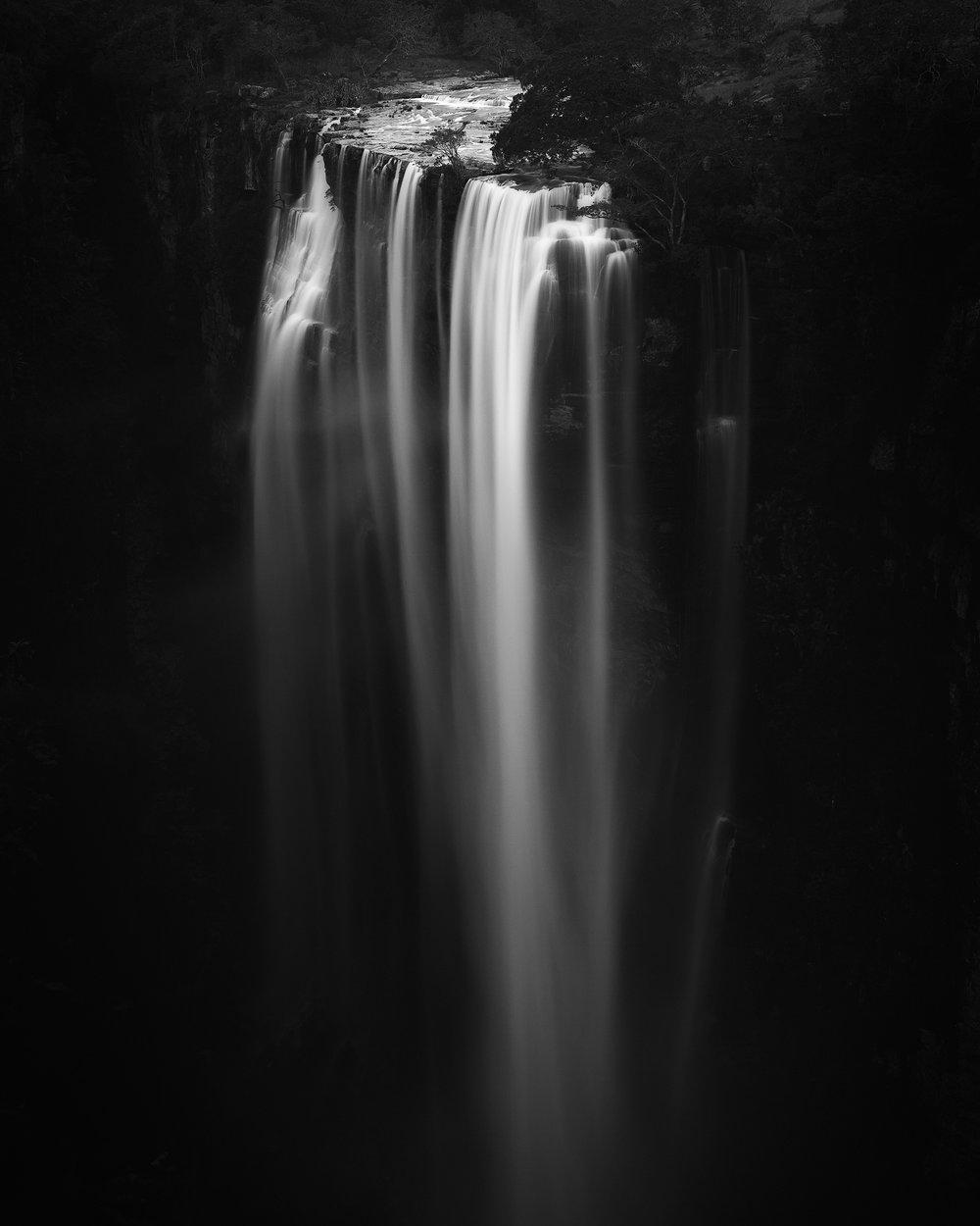 Magwa Falls Black and White