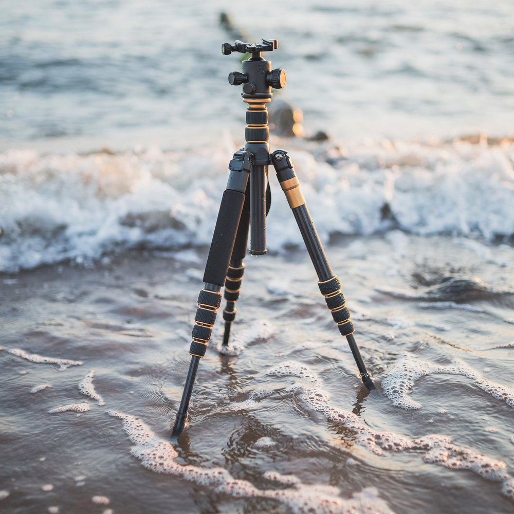 Tripod on beach