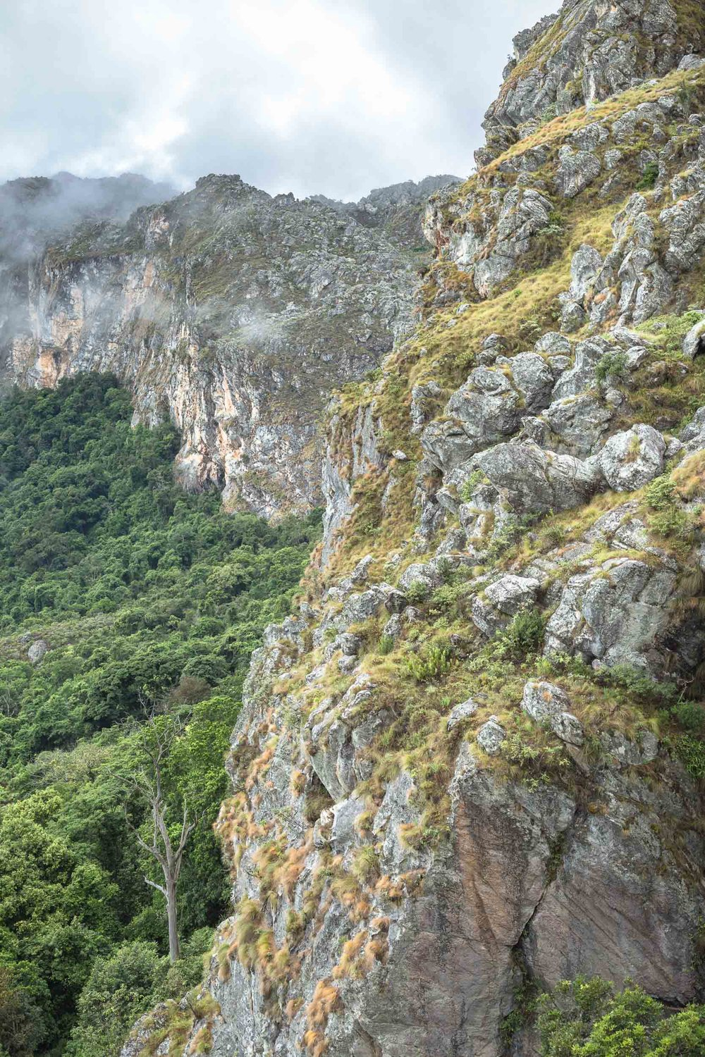 Bailey's Folly, a direct route up the Chimanimani Mountains.