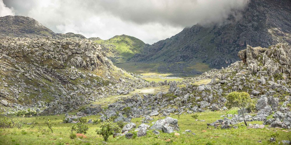 The boulder fields of the Chimanimani Mountains.