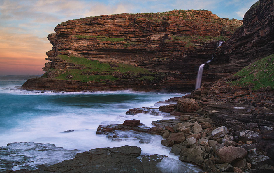 Waterfall Bluff near Luputhana, Eastern Cape Wild Coast