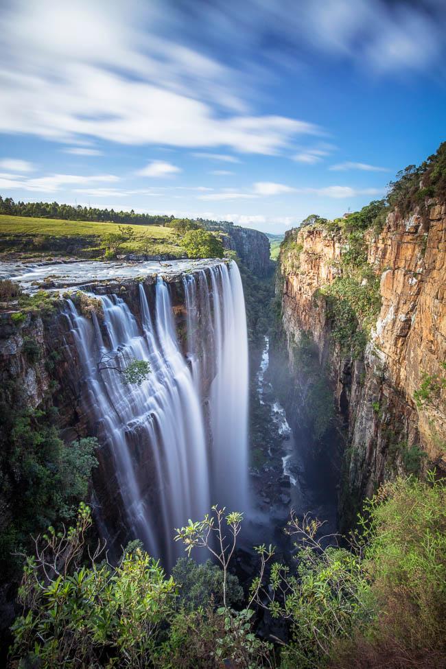 Magwa Falls in the sunshine.