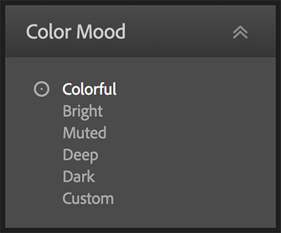 Color Mood options.
