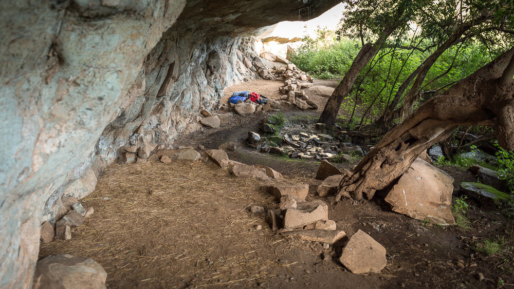 "Grindstone Cave ( 29°07'51.9""S 29°25'08.8""E )."