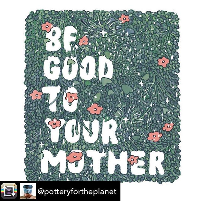 In honor of #EARTH DAY🌎🌿 • • • repost from @potteryfortheplanet  Respect your mother today and every day! 🌱🍀🍃🌞🌏🌊• • • How cool is this guys? #memegirlsappreciationpost #memegirlsshow #memegirlsloveearthday