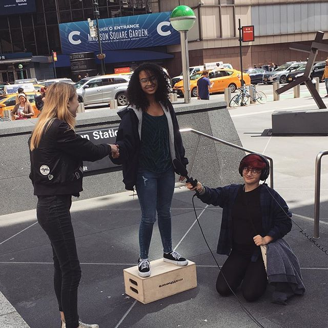 What are the #memegirls up to in the middle of Manhattan? Find out soon when our new episode drops! Link in bio #memegirlsshow #memegirlstheshow #youthinpolitics #votethemout #webseries #womeninpolitics #buildyourbase #voteforKaya