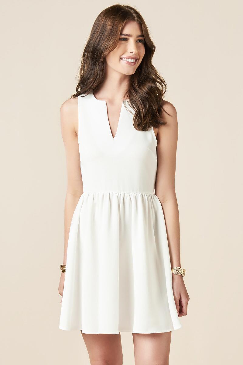 Kaydence Solid Dress || Francesca's