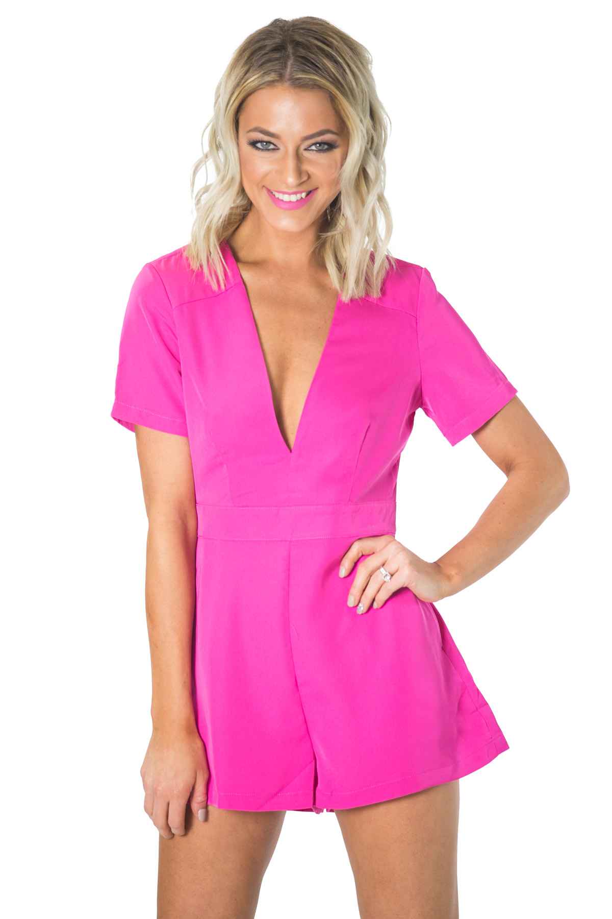 Summer Fling- Fuschia Romper, RaeLynn's Boutique