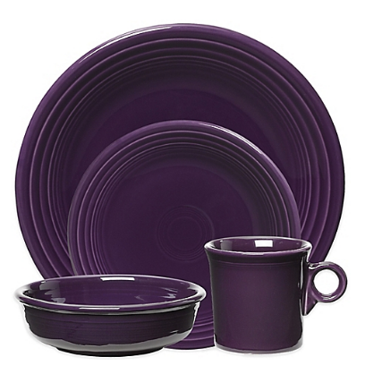 Fiesta 4 Piece Set in Plum, Bed, Bath and Beyond