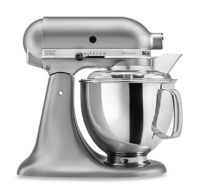 KitchenAid® Artisan® 5 qt. Stand Mixer in Contour Silver || Bed, Bath, and Beyond