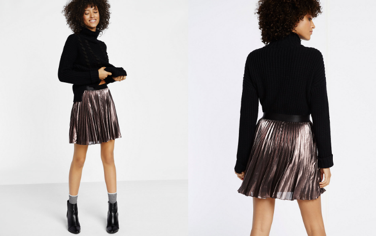 metallic skirt express