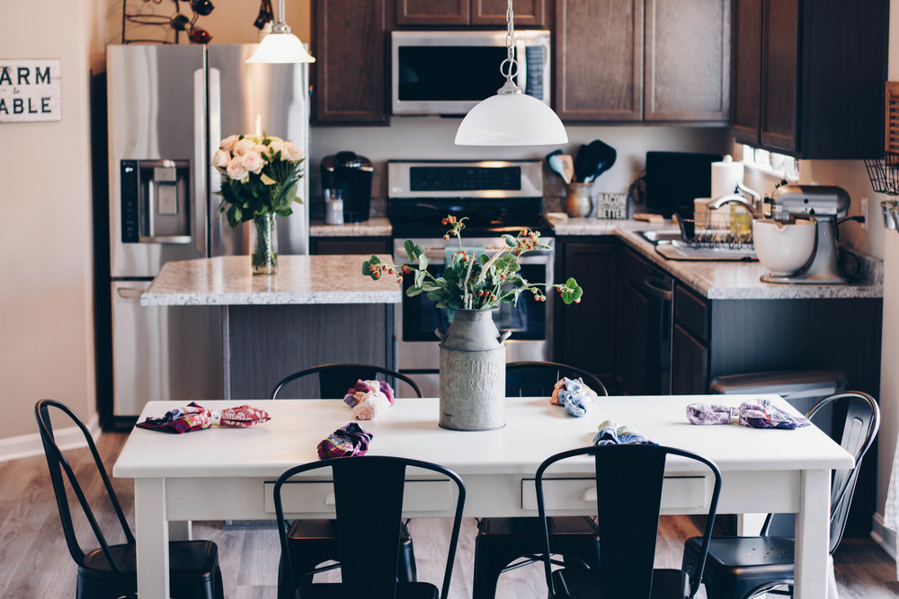 Home Edition Part One: Contemporary Kitchen by Indianapolis style blogger Trendy in Indy