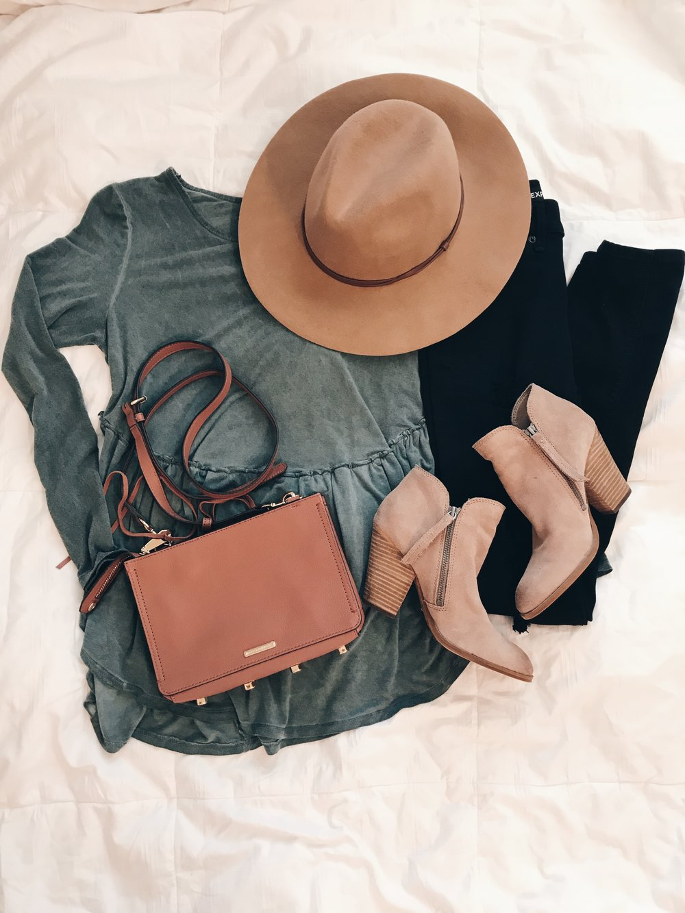 - Top || Hat || Black Jeans || Crossbody || Booties