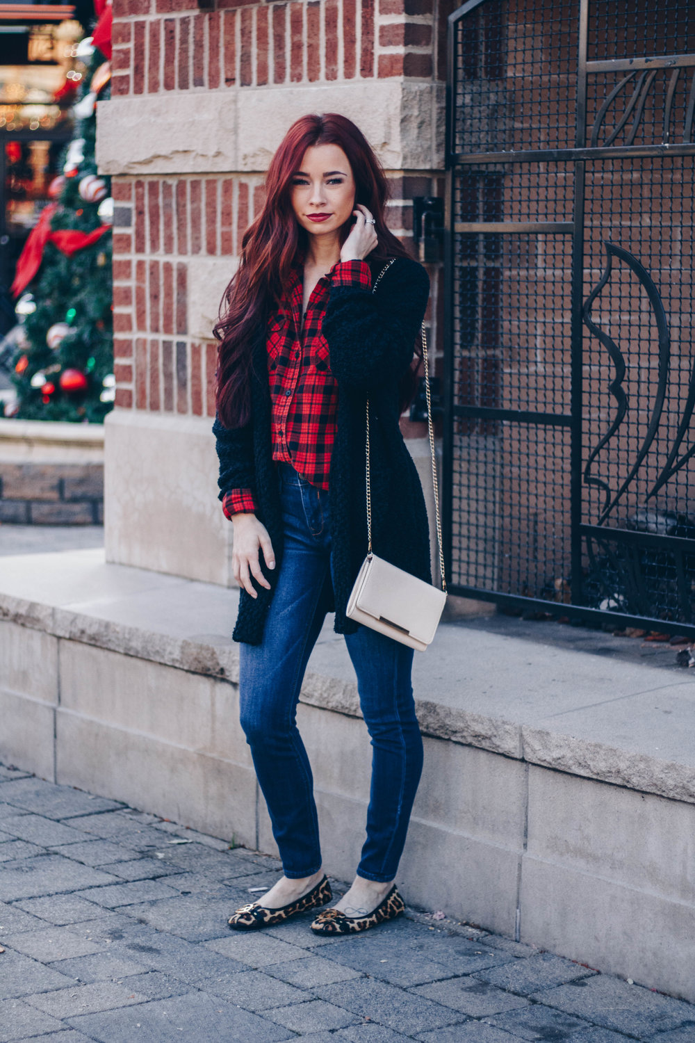 Wearing Red by Indianapolis style blogger Trendy in Indy